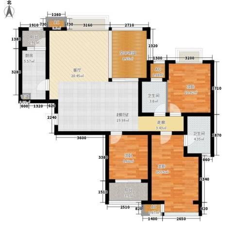 新华联广场3室0厅2卫1厨130.00㎡户型图