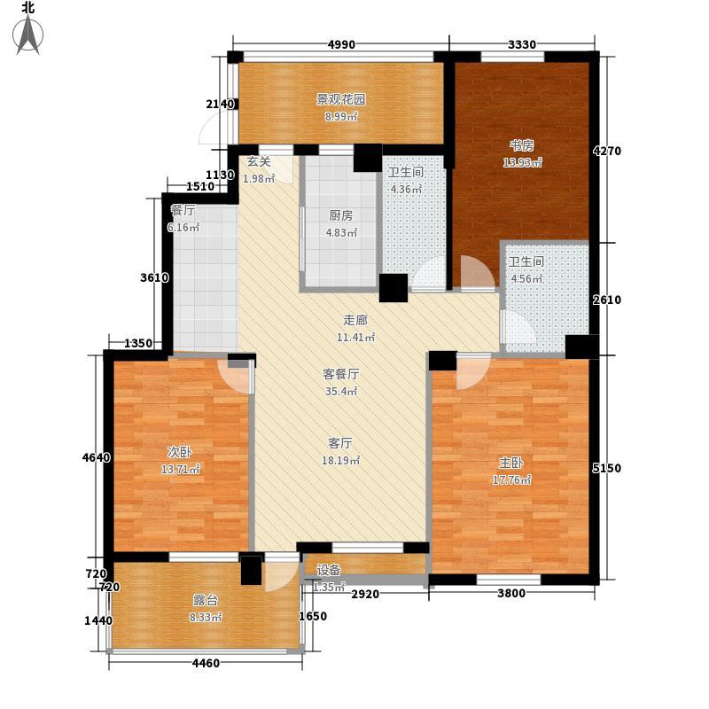 盛世豪庭134.40㎡F面积13440m户型