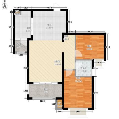 新华联广场2室0厅1卫1厨99.00㎡户型图