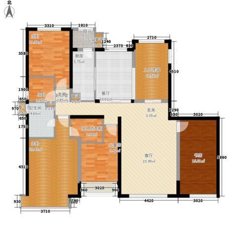 荷堂5室1厅1卫1厨189.00㎡户型图