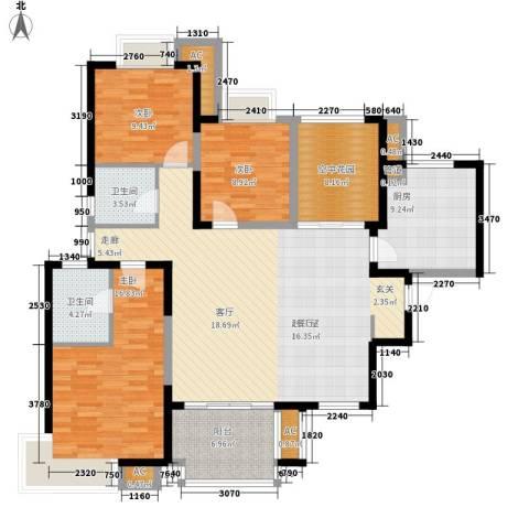 新华联广场3室0厅2卫1厨135.00㎡户型图