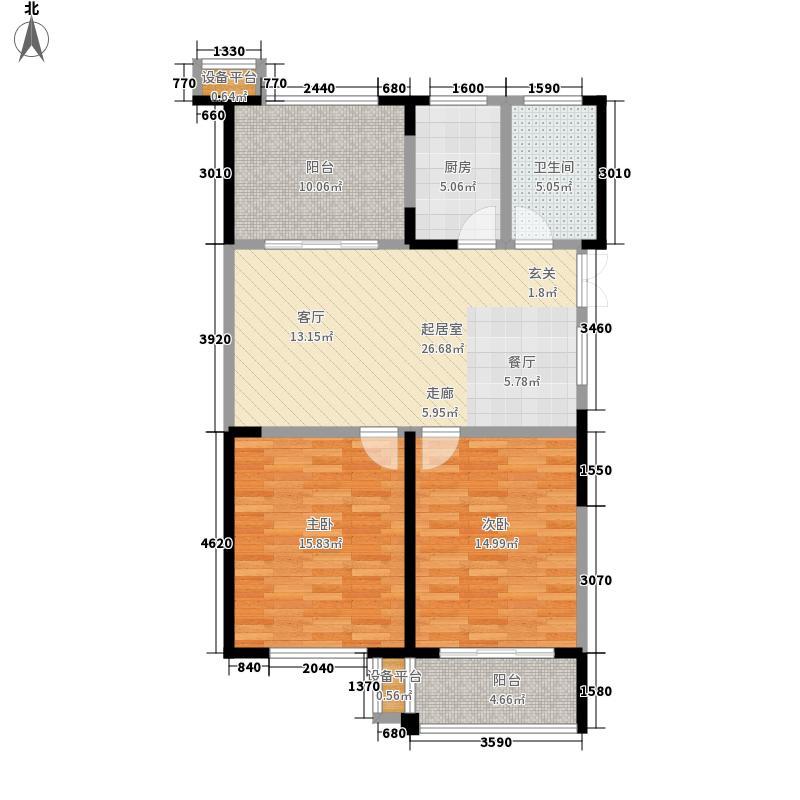东菱阳光乐园91.31㎡8、9号楼I户型
