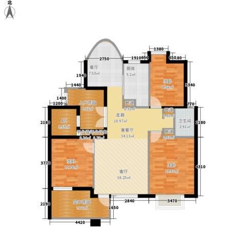 消防小区3室1厅1卫1厨98.00㎡户型图