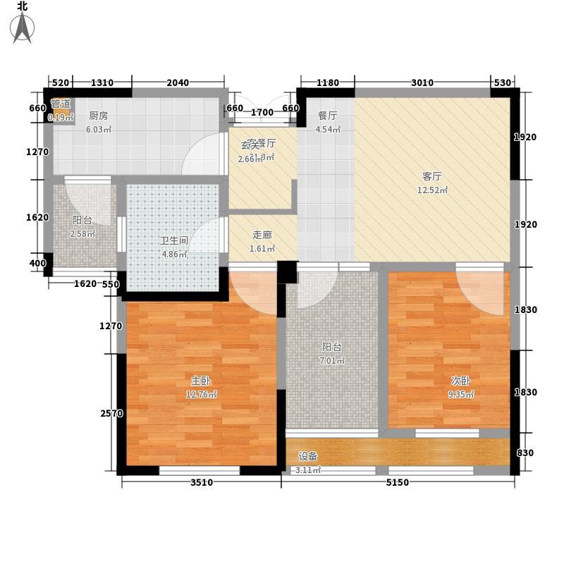 东方维罗纳78.00㎡D户型2室2厅
