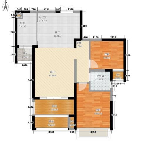 新华联广场2室0厅1卫1厨101.00㎡户型图