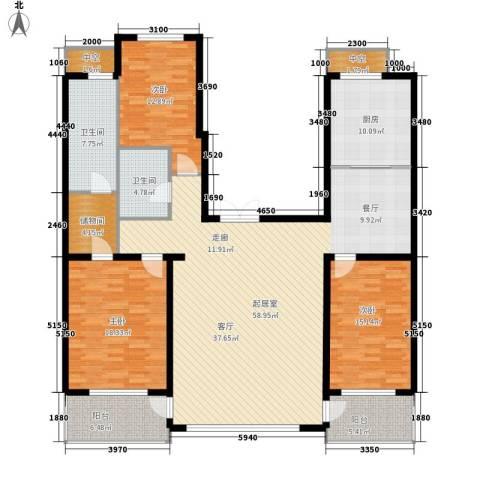 九江丽都3室0厅2卫1厨206.00㎡户型图