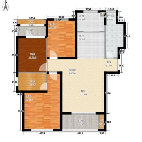 御品世家3室0厅1卫1厨133.00㎡户型图