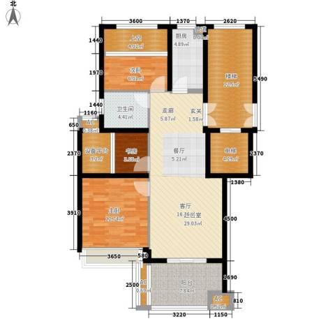 勤业镜悦府3室0厅1卫1厨110.36㎡户型图