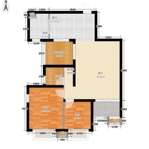新华联广场2室0厅1卫1厨98.00㎡户型图