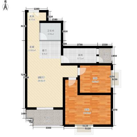 正天雅居2室1厅1卫1厨90.00㎡户型图