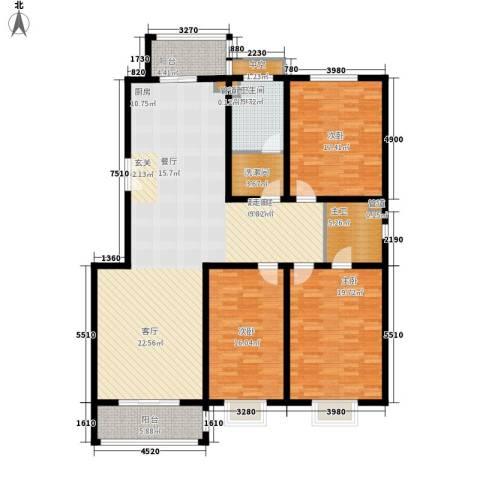 御河园3室0厅1卫0厨157.00㎡户型图