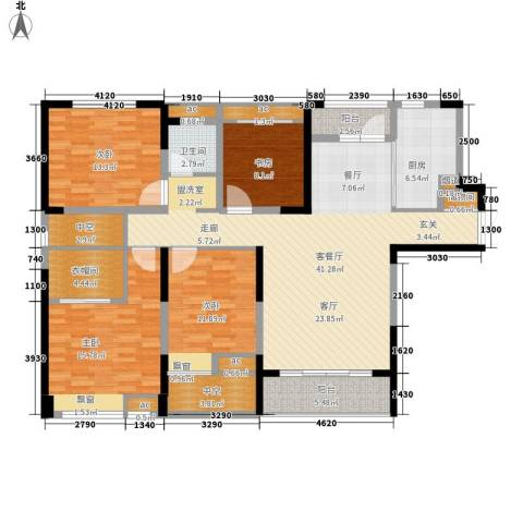 融科城4室1厅1卫1厨142.00㎡户型图