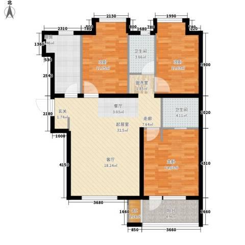 荣盛阳光逸墅3室0厅2卫1厨101.00㎡户型图