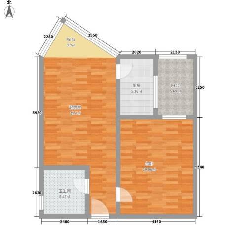 西安高新区创业研发院1室0厅1卫1厨75.00㎡户型图