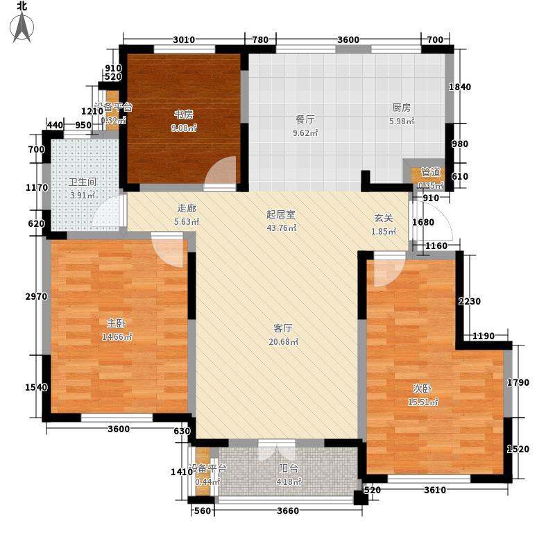 东菱阳光乐园117.77㎡2号楼D户型