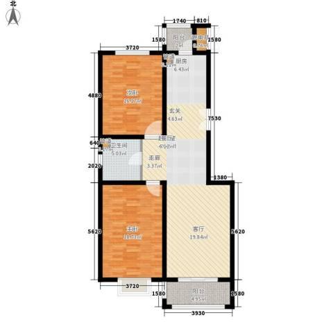 御河园2室0厅1卫0厨100.00㎡户型图