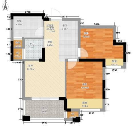 象屿优山美地2室0厅1卫1厨69.00㎡户型图