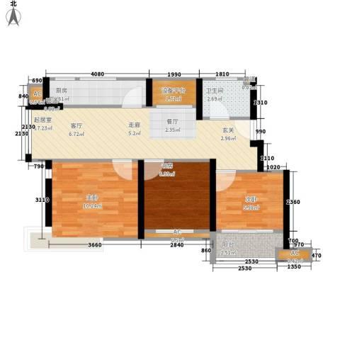 城南春天3室0厅1卫1厨112.00㎡户型图