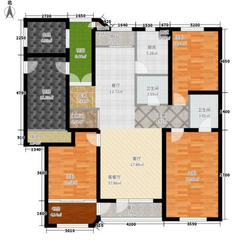 世福佳苑・碧春园4室1厅2卫1厨186.00㎡户型图