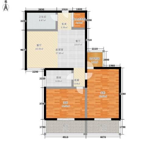 凤城明珠2室0厅1卫1厨108.89㎡户型图