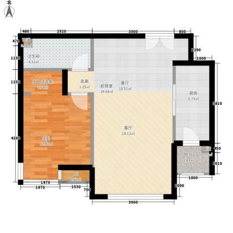 天津富力湾1室0厅1卫1厨89.00㎡户型图