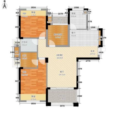 象屿优山美地2室0厅1卫1厨103.00㎡户型图