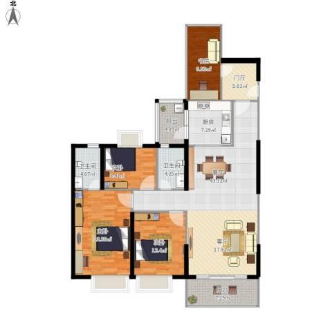 嘉逸园4室1厅2卫1厨172.00㎡户型图