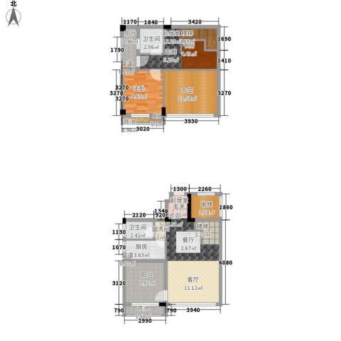招商假日3651室0厅2卫1厨92.00㎡户型图