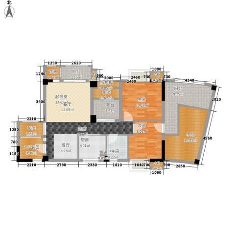 招商假日3652室0厅1卫1厨87.60㎡户型图