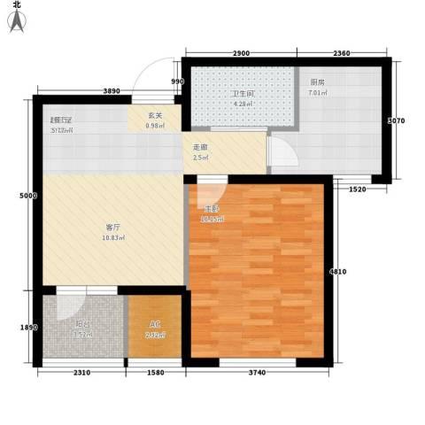 渤海天易园1室0厅1卫1厨61.00㎡户型图