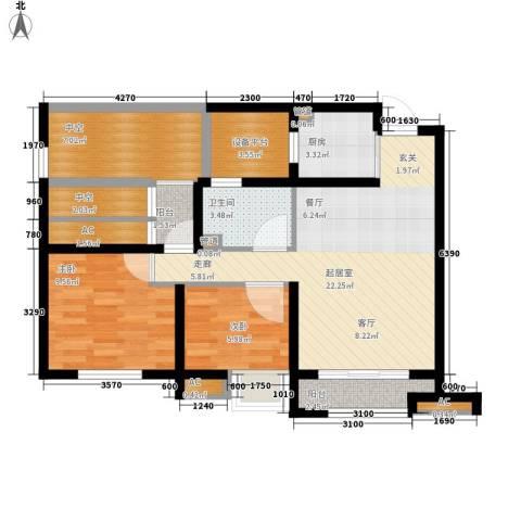 城南春天2室0厅1卫1厨90.00㎡户型图