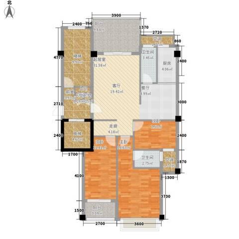 凯悦华庭3室0厅2卫1厨113.82㎡户型图