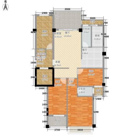 凯悦华庭3室0厅2卫1厨112.15㎡户型图