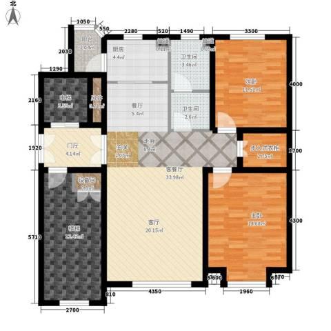 世福佳苑・碧春园2室1厅2卫1厨141.00㎡户型图