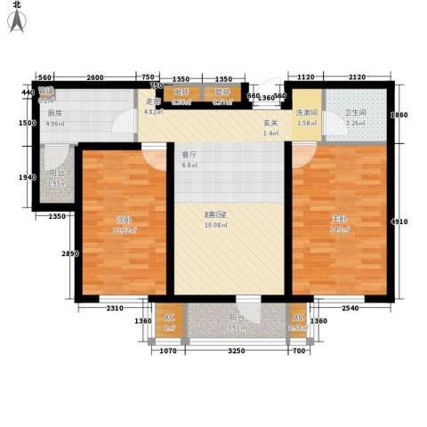 渤海天易园2室0厅1卫1厨78.00㎡户型图