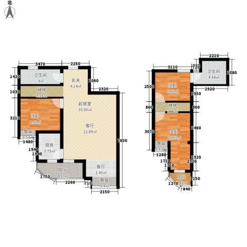 印象欧洲3室0厅2卫1厨118.00㎡户型图