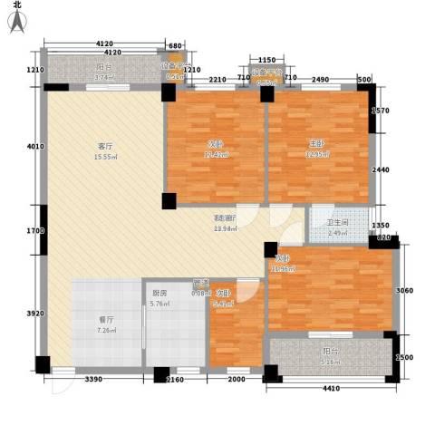 紫晶上成4室1厅1卫1厨135.00㎡户型图