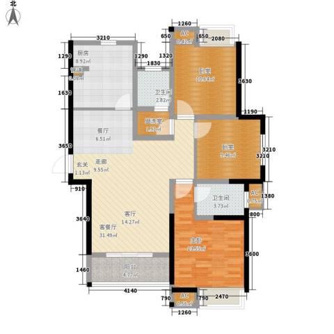 曲江翠竹园1室1厅2卫1厨121.00㎡户型图