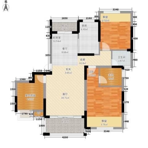 象屿优山美地2室0厅1卫1厨117.00㎡户型图