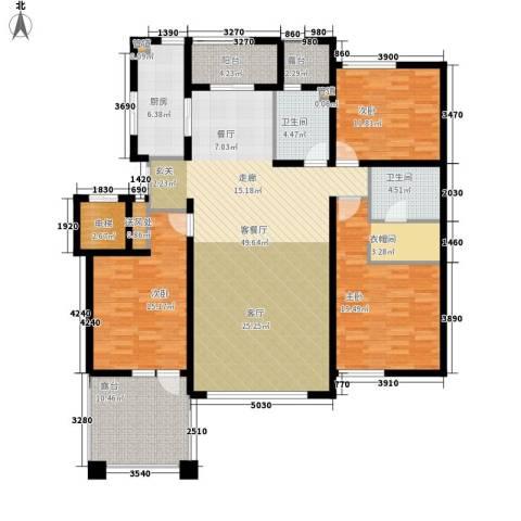 辰能溪树河谷3室1厅2卫1厨187.00㎡户型图