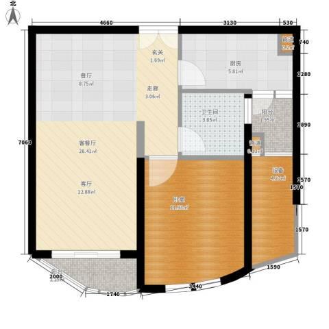 芳草轩1厅1卫1厨65.00㎡户型图