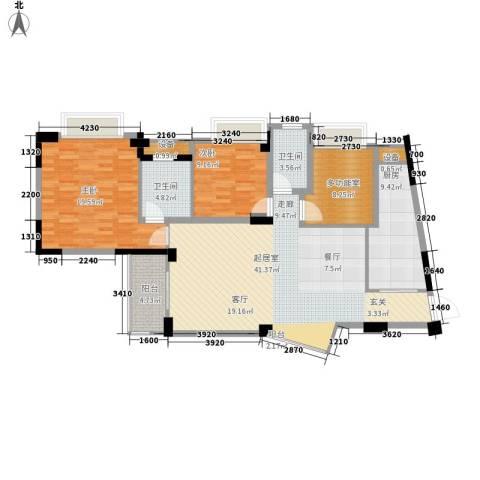 东逸华庭2室0厅2卫1厨116.00㎡户型图