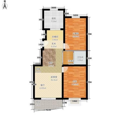 万国金色家园2室0厅1卫1厨102.00㎡户型图