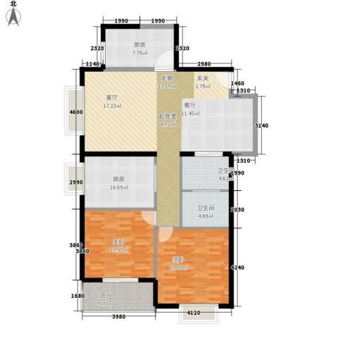嘉天国际2室0厅2卫2厨148.00㎡户型图