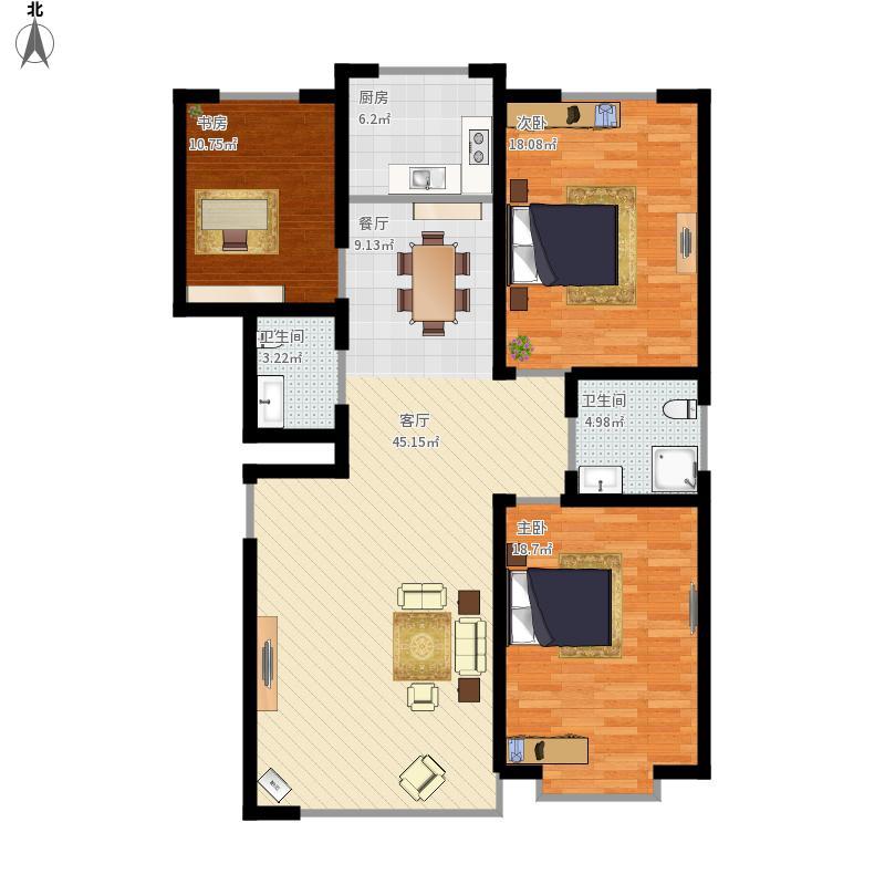 书香园11号12号3室2厅