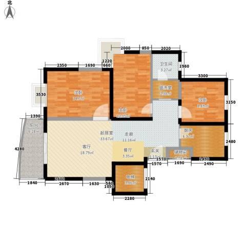 万国金色家园3室0厅1卫1厨132.00㎡户型图
