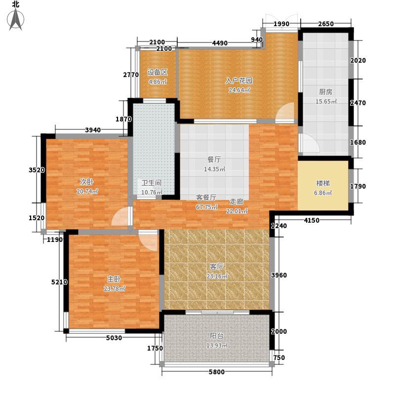 复地东湖国际201.00㎡天际系列复式楼一层户型4室3厅