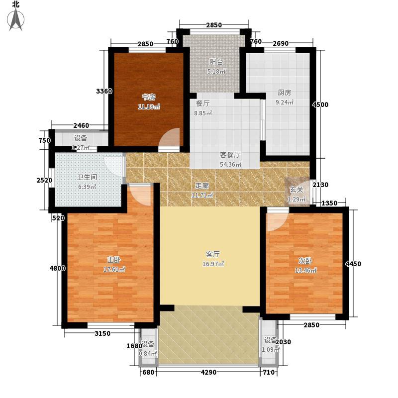 东方明珠海上御园130.79㎡六期16号楼D户型
