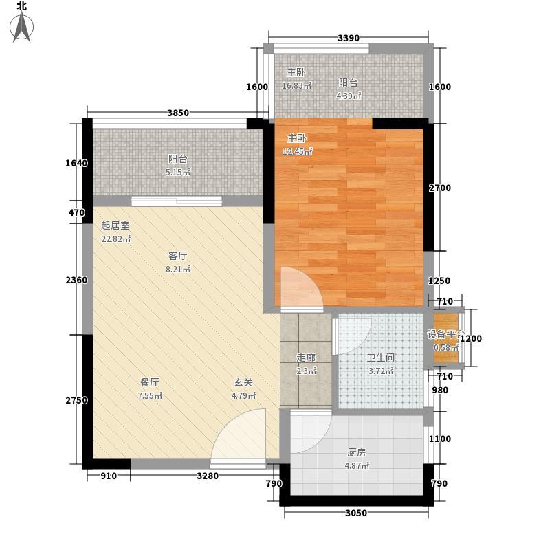 城开祥和里61.00㎡5#B1面积6100m户型