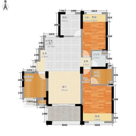 象屿优山美地2室0厅1卫1厨112.00㎡户型图